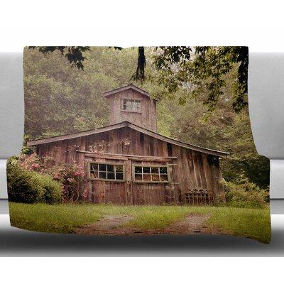 Shabby Elegance Barn by Angie Turner Fleece Blanket Size: 60 W x 80 L