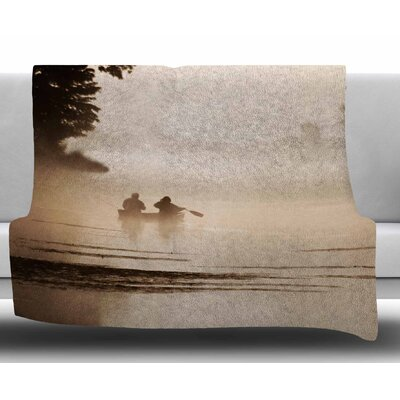 Misty Morning by Angie Turner Fleece Blanket Size: 60 W x 80 L