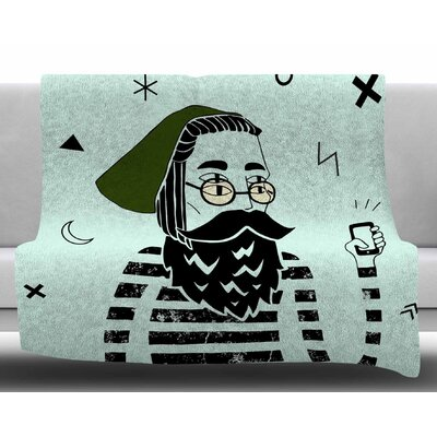 Dreamer2 by Anya Volk Fleece Blanket Size: 50 W x 60 L