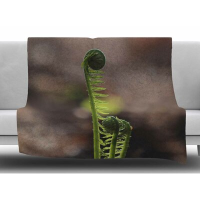 Fern Top by Angie Turner Fleece Blanket Size: 60 W x 80 L