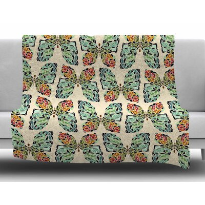 Butterfly Pattern by Art Love Passion Fleece Blanket Size: 50 W x 60 L