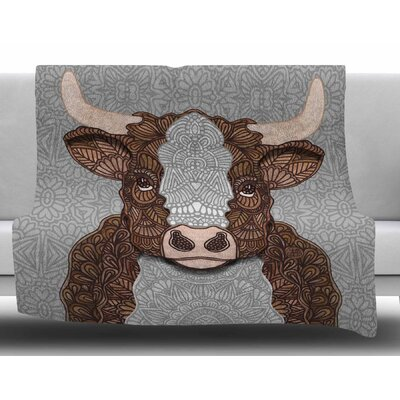 Gustaf The Bull by Art Love Passion Fleece Blanket Size: 50 W x 60 L