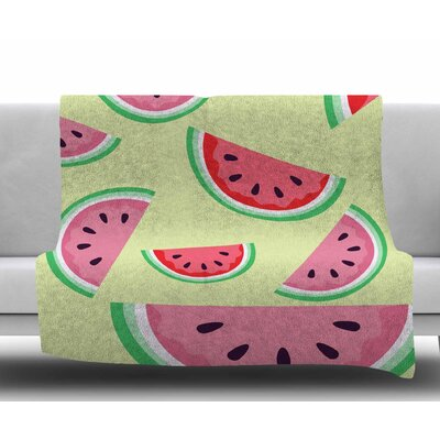 Watermelon Background by Afe Images Fleece Blanket Size: 50 W x 60 L