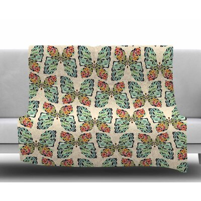 Little Butterflies by Art Love Passion Fleece Blanket Size: 60 W x 80 L