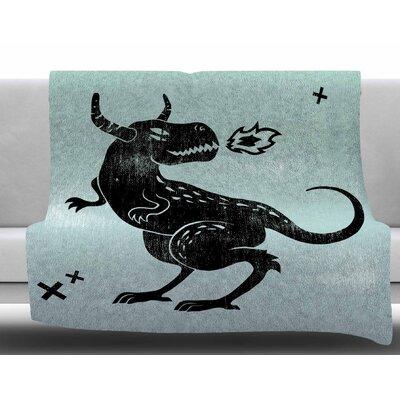 Fire Monster by Anya Volk Fleece Blanket Size: 50 W x 60 L