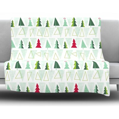 Pining for Christmas by Allison Beilke Christmas Holiday Fleece Blanket Size: 60 W x 80 L