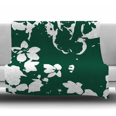 Helena Floral by Love Midge Fleece Blanket Size: 50 W x 60 L