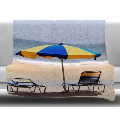 Umbrella by Angie Turner Fleece Blanket Size: 50 W x 60 L