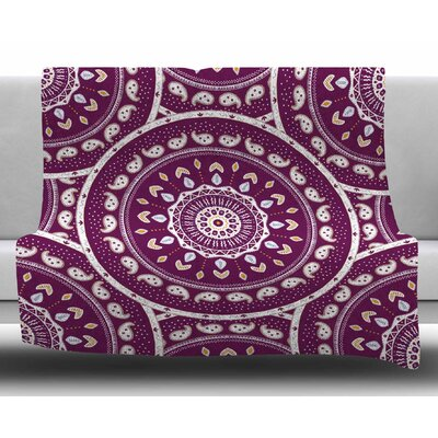 Mandala Design by Cristina Bianco Design Fleece Blanket Size: 50 W x 60 L