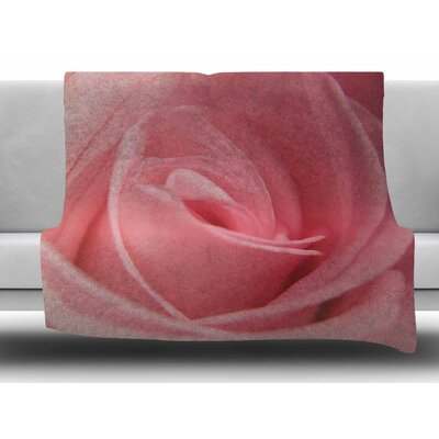 Soft Pink by Angie Turner Fleece Blanket Size: 50 W x 60 L