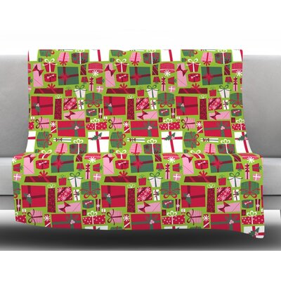 Prezzies by Allison Beilke  Holiday Fleece Blanket Size: 50 W x 60 L