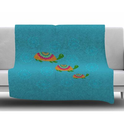 The Turtles by Cristina Bianco Design Fleece Blanket Size: 50 W x 60 L