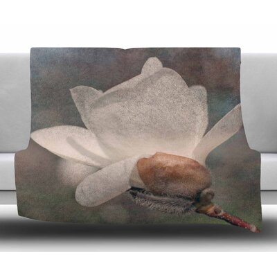 Magnolia by Angie Turner Fleece Blanket Size: 50 W x 60 L