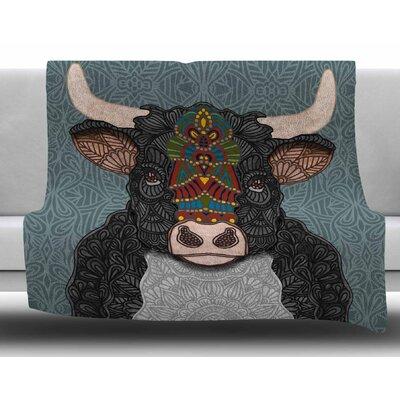 Steve The Bull  by Art Love Passion Fleece Blanket Size: 60 W x 80 L