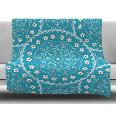 Mandala by Cristina Bianco Design Fleece Blanket Size: 50 W x 60 L