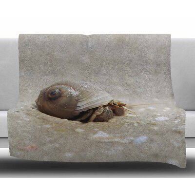 Hermit Crab by Angie Turner Fleece Blanket Size: 60 W x 80 L