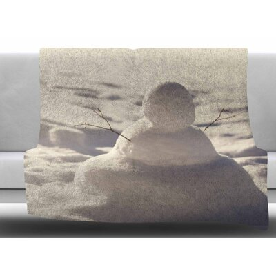 Snowman by Angie Turner Fleece Blanket Size: 50 W x 60 L