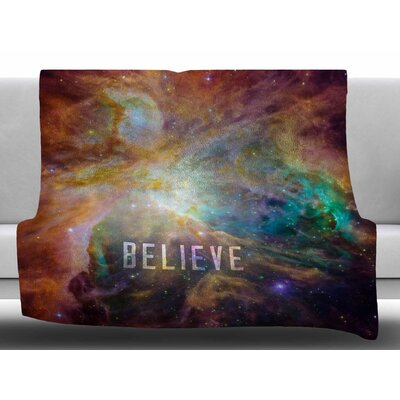 Orion Nebula Believe by Bruce Stanfield Fleece Blanket Size: 60 W x 80 L