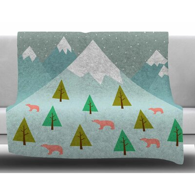 Bears Illustration by Cristina Bianco Design Fleece Blanket Size: 60 W x 80 L