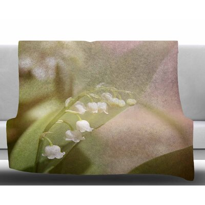Lily Of The Valley by Angie Turner Fleece Blanket Size: 50 W x 60 L
