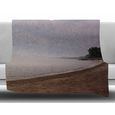 Along The Coast by Angie Turner Fleece Blanket Size: 50 W x 60 L