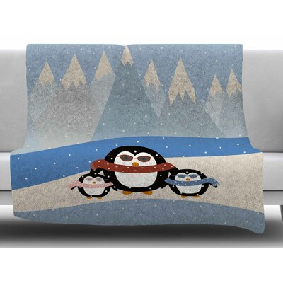Cute Penguins by Cristina Bianco Design Fleece Blanket Size: 60 W x 80 L