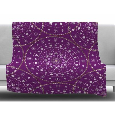 Mandala by Cristina Bianco Design Fleece Blanket Size: 60 W x 80 L