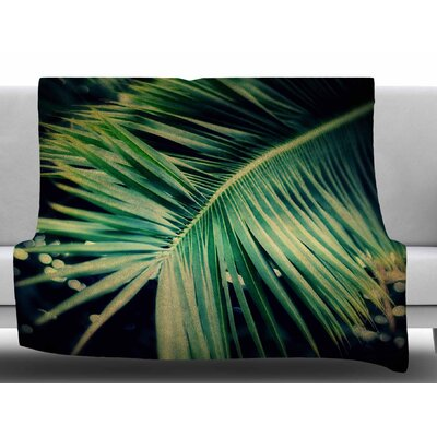 Palm Frond by Angie Turner Fleece Blanket Size: 50 W x 60 L