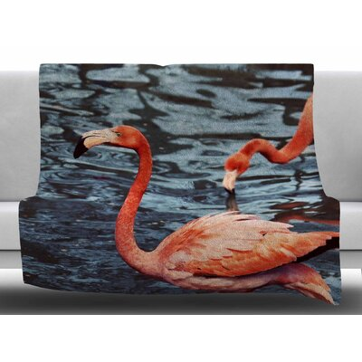 Flamingo by Angie Turner Fleece Blanket Size: 50 W x 60 L