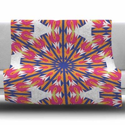Modern Dutch Tulpis by Miranda Mol Fleece Blanket Size: 60 W x 80 L