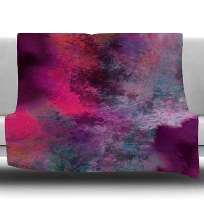 Mineral Pink by Nina May Fleece Blanket Size: 50 W x 60 L