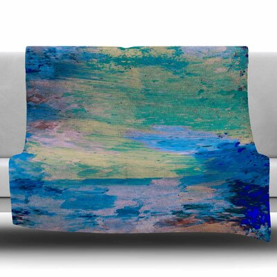 Mineral Surf by Nina May Fleece Blanket Size: 50 W x 60 L