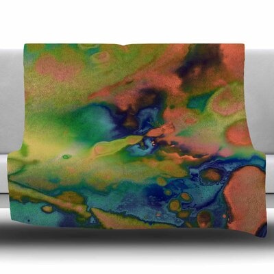 Acid Splash Down by Nina May Fleece Blanket Size: 50 W x 60 L