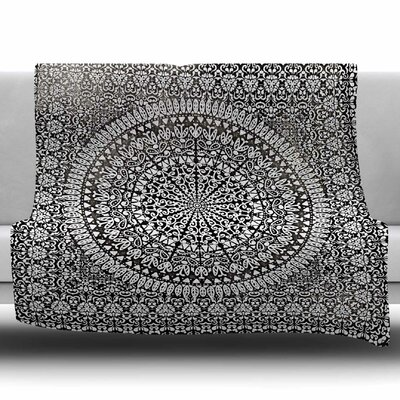 Mandala Bandana by Nika Martinez Fleece Blanket Size: 50 W x 60 L