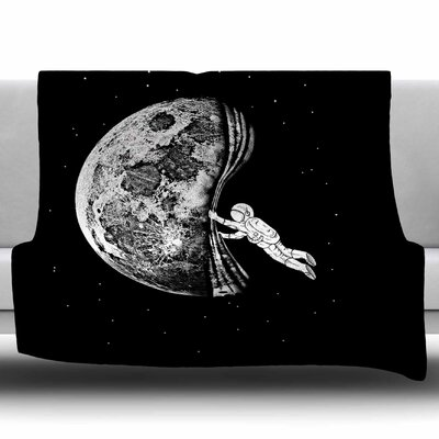 The Night Has Come by BarmalisiRTB Fleece Blanket Size: 60 W x 80 L