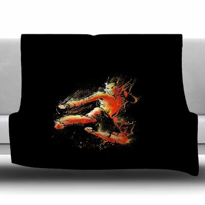 Strong Fighter by BarmalisiRTB Fleece Blanket Size: 50 W x 60 L