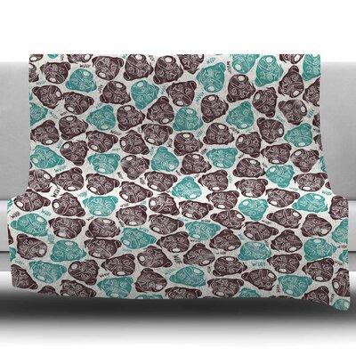 The Barking Pug by Pom Graphics Design Fleece Blanket Size: 60 W x 80 L