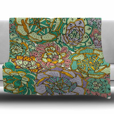 Succulent Love by Pom Graphic Design Fleece Blanket Size: 50 W x 60 L