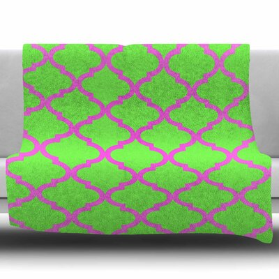 Culture Shock Watermelon by Matt Eklund Fleece Blanket Size: 50 W x 60 L