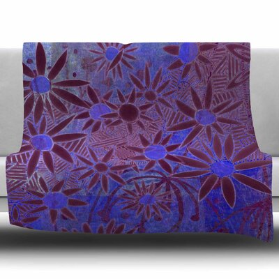 Purple Night by Marianna Tankelevich Fleece Blanket Size: 50 W x 60 L