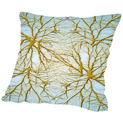Neurons Medical Cell System Throw Pillow Size: 16 H x 16 W x 2 D, Color: Gray