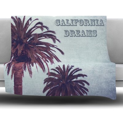 California Dream by Ann Barnes Fleece Throw Blanket Size: 40 x 30