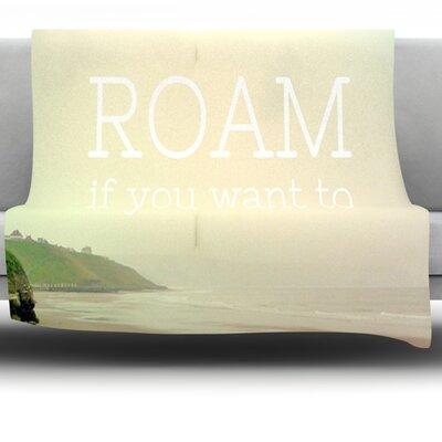 Roam by Alison Coxon Fleece Throw Blanket Size: 80 L x 60 W