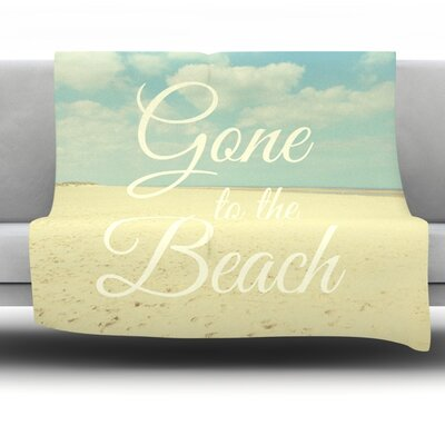 Gone To The Beach by Alison Coxon Fleece Throw Blanket Size: 40 x 30