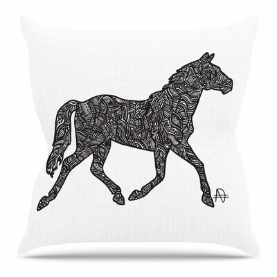 Horsie by Adriana De Leon Throw Pillow
