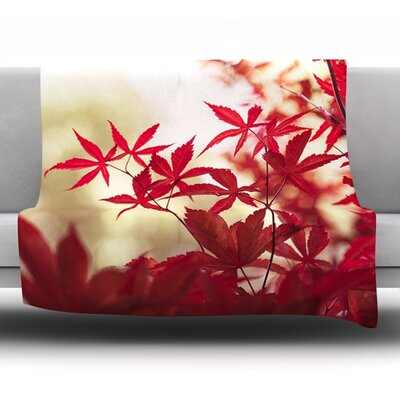 September Afternoon by Ann Barnes Fleece Throw Blanket Size: 60 L x 50 W