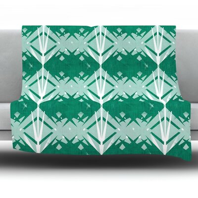 Diamond by Alison Coxon Fleece Throw Blanket Size: 40 L x 30 W