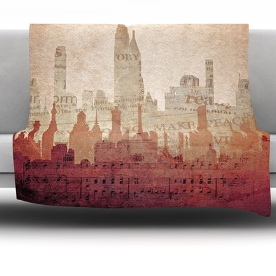 City by Alison Coxon Fleece Throw Blanket Size: 40 x 30