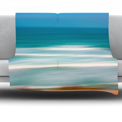 Sun and Sea by Ann Barnes Fleece Throw Blanket Size: 60 x 50