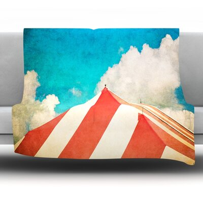 The Big Top by Ann Barnes Fleece Throw Blanket Size: 80 x 60